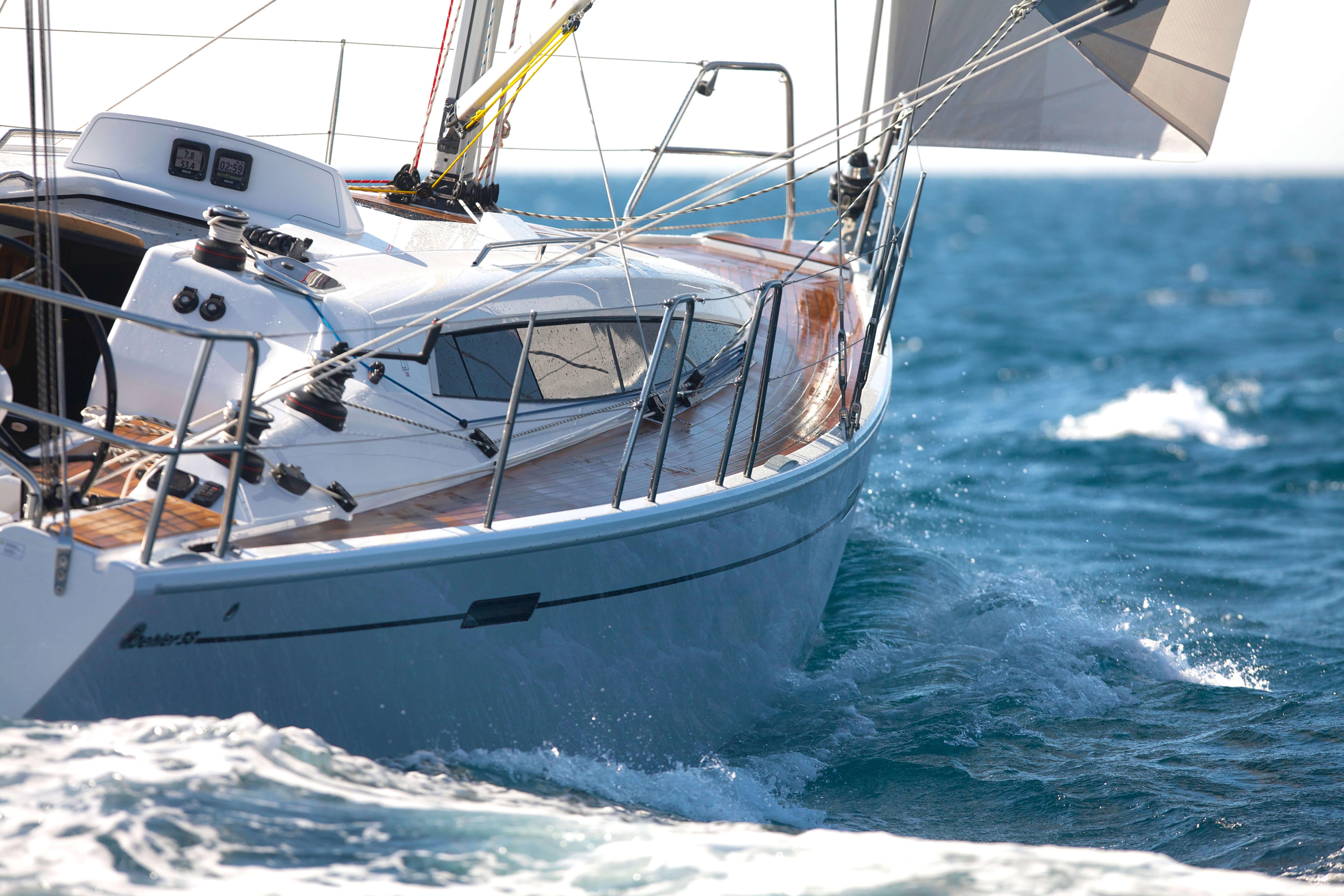 Dehler 38 Exterior Sailing | lines, teak deck | Dehler
