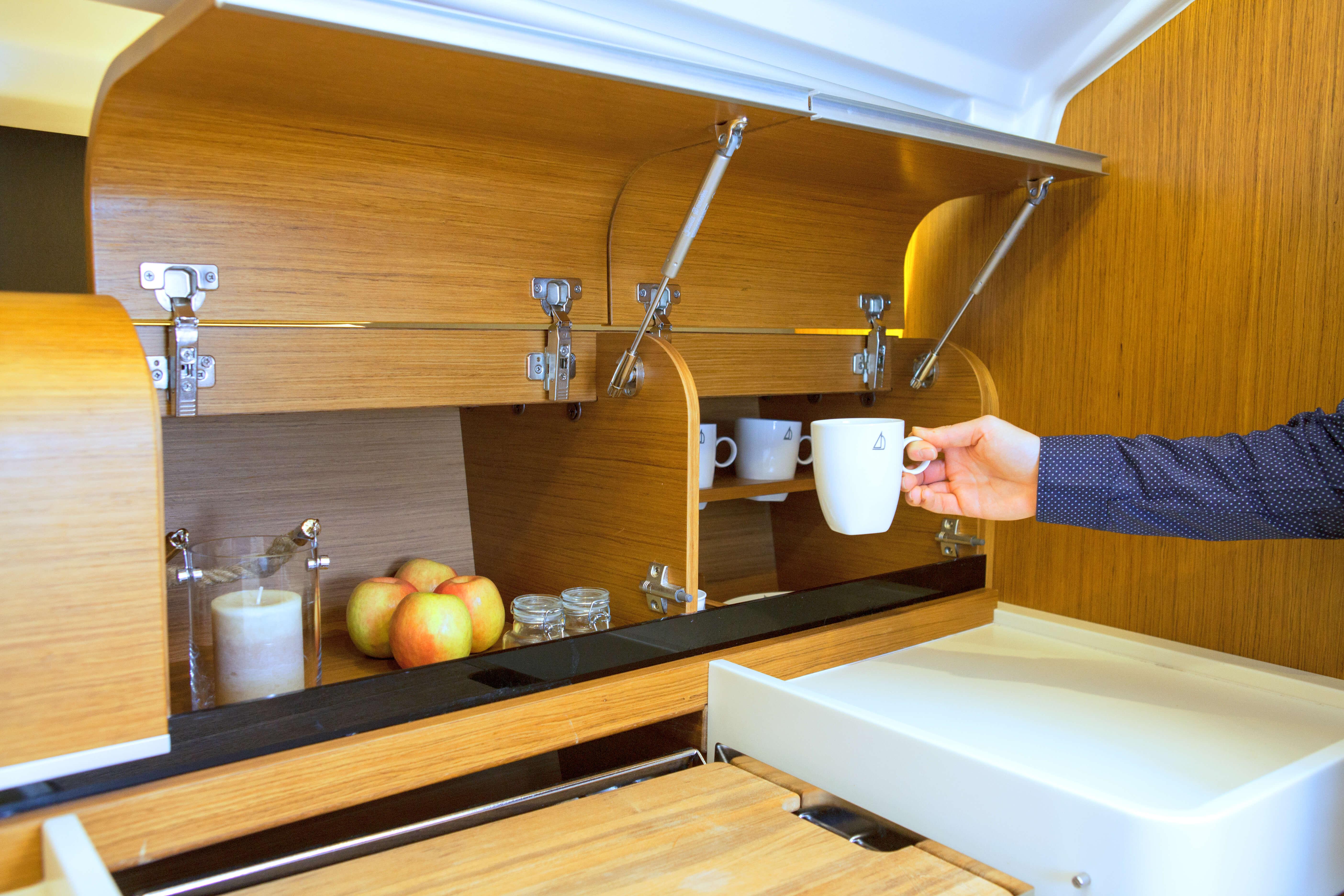 Dehler 38 Interior view pantry | storage compartment | Dehler