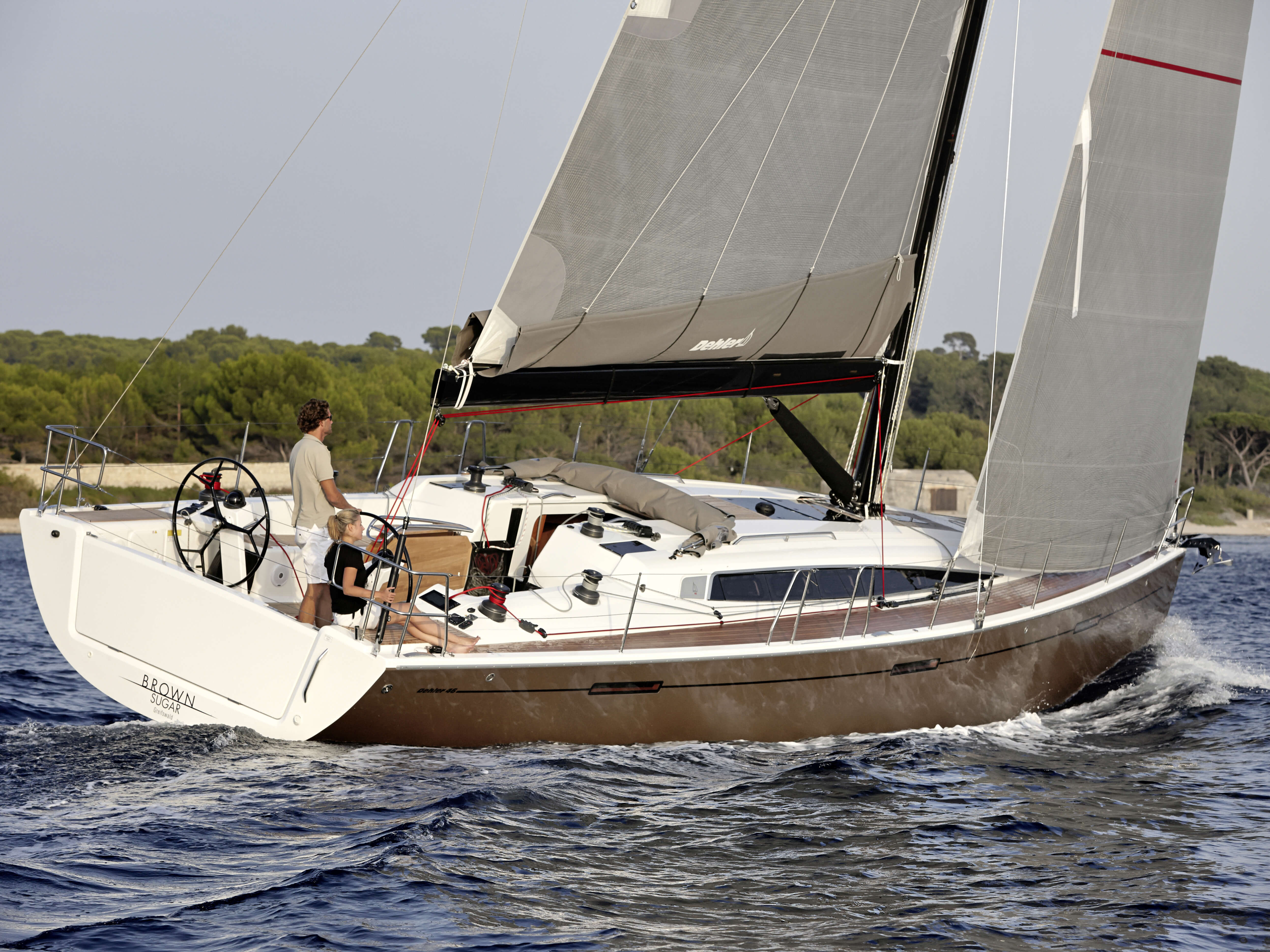 Dehler 46 Exterior Sailing | forsesail, mainsail, rear | Dehler