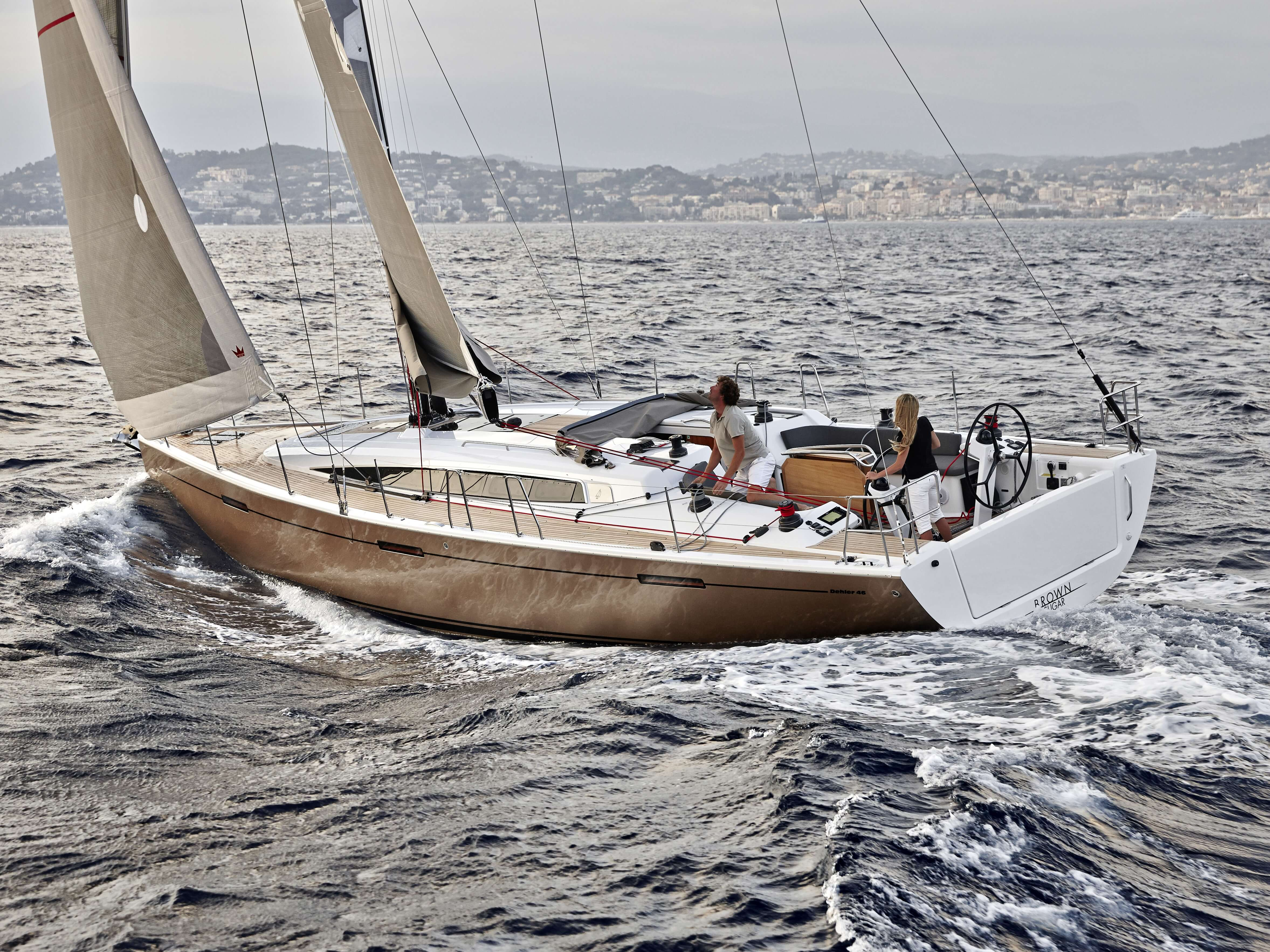 Dehler 46 Exterior Sailing | rear, cockpit, mainsail | Dehler