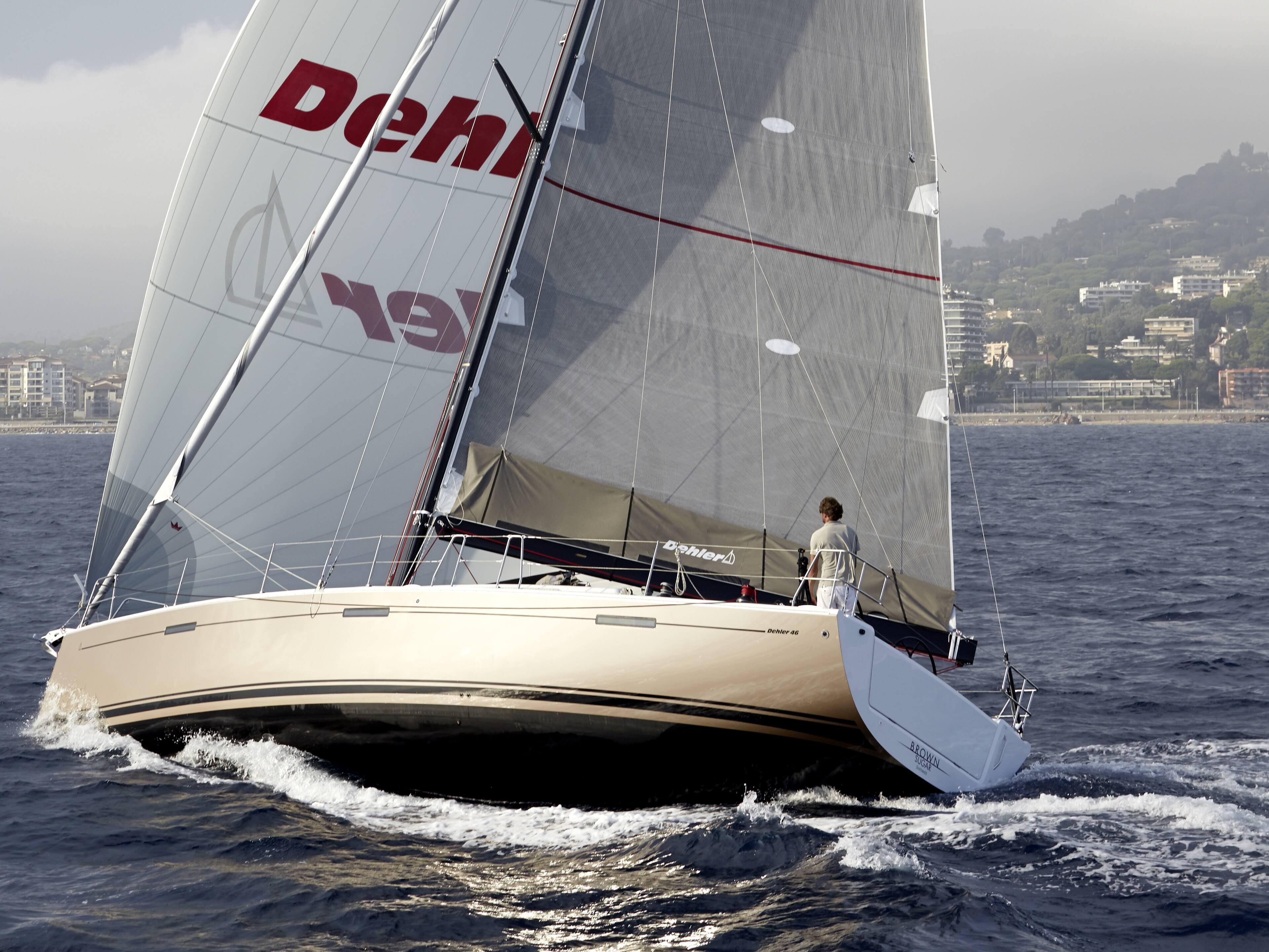 Dehler 46 Exterior Sailing | Gennaker, rear | Dehler