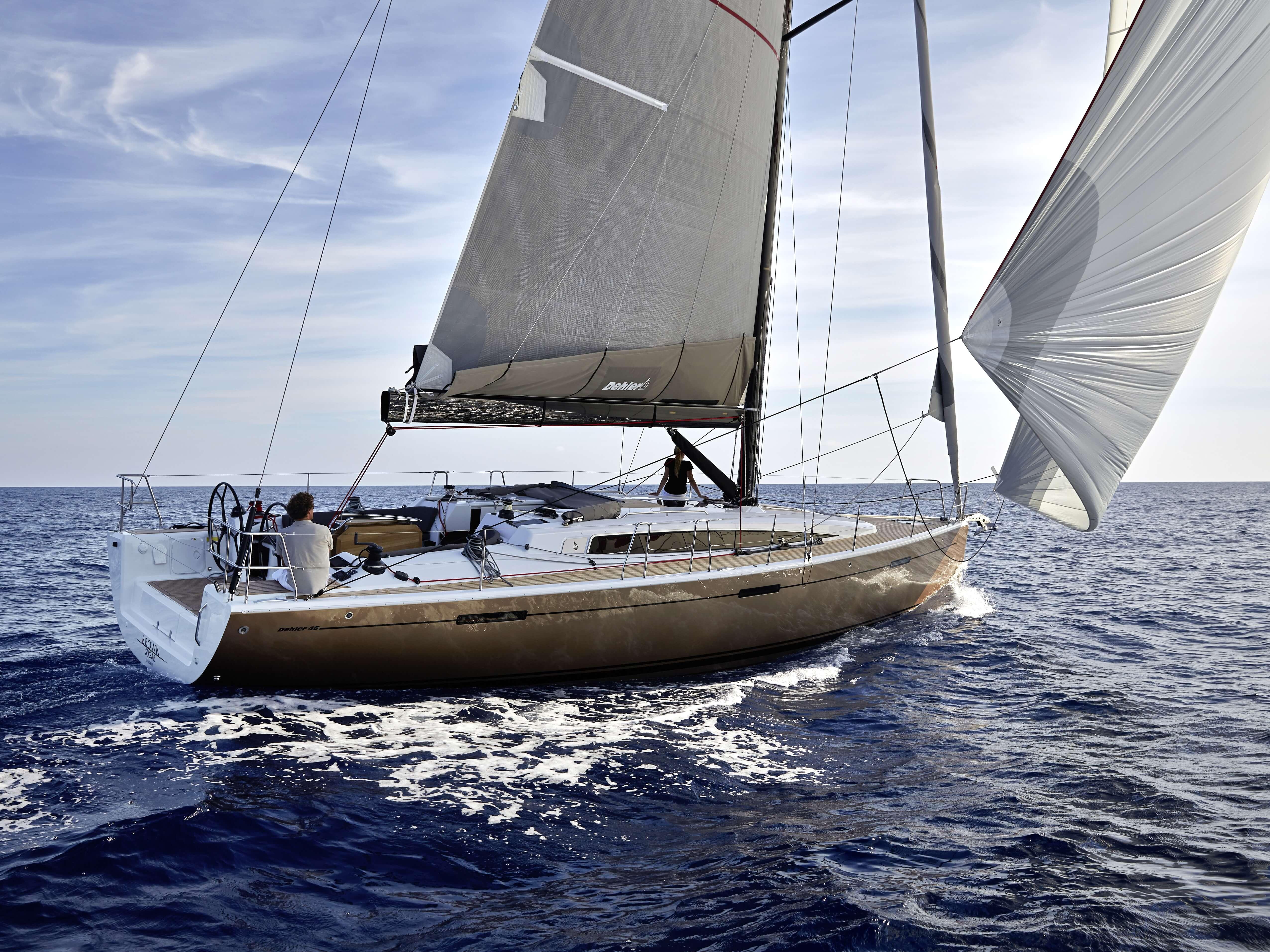 Dehler 46 Exterior Sailing | Gennaker, mainsail, hull | Dehler