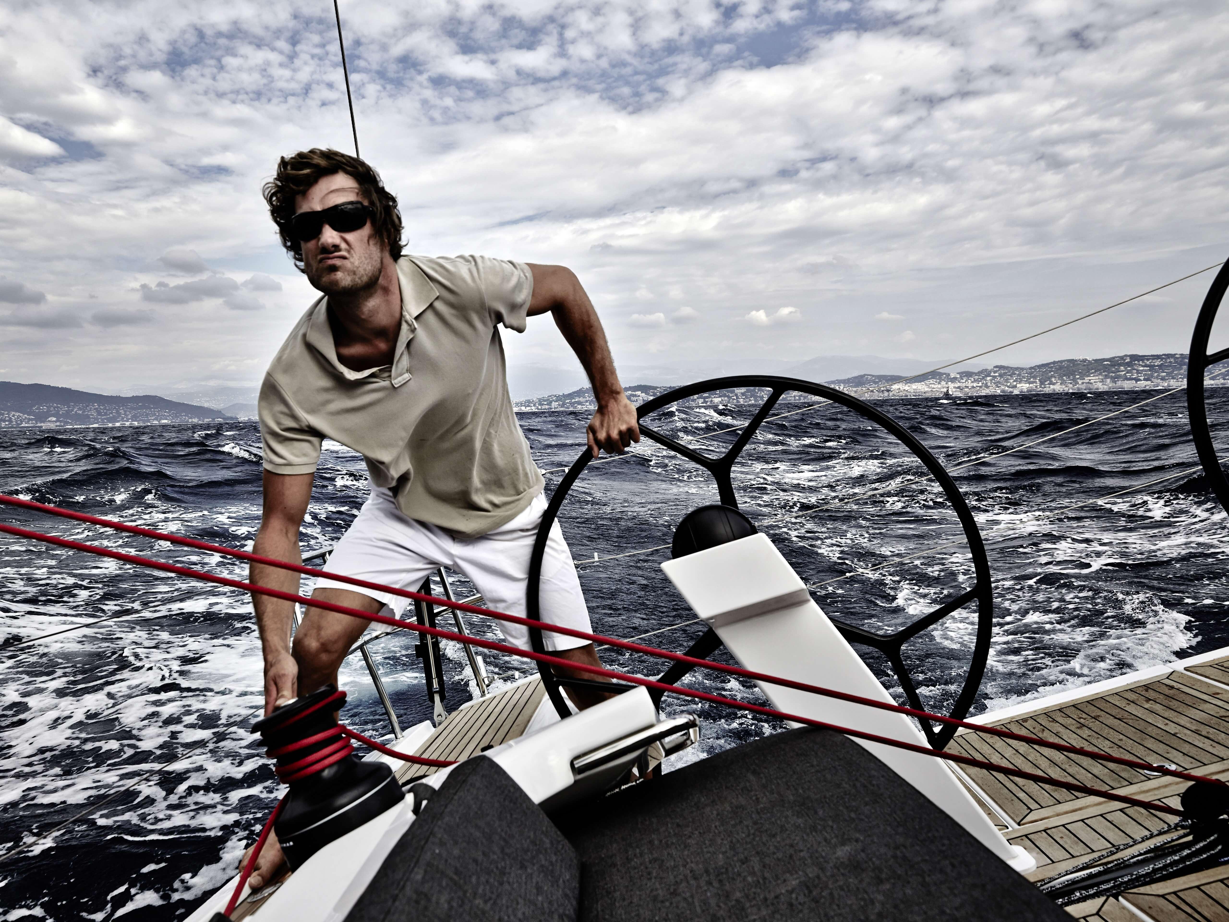 Dehler 46 Exterior Sailing | carbon steering wheel | Dehler