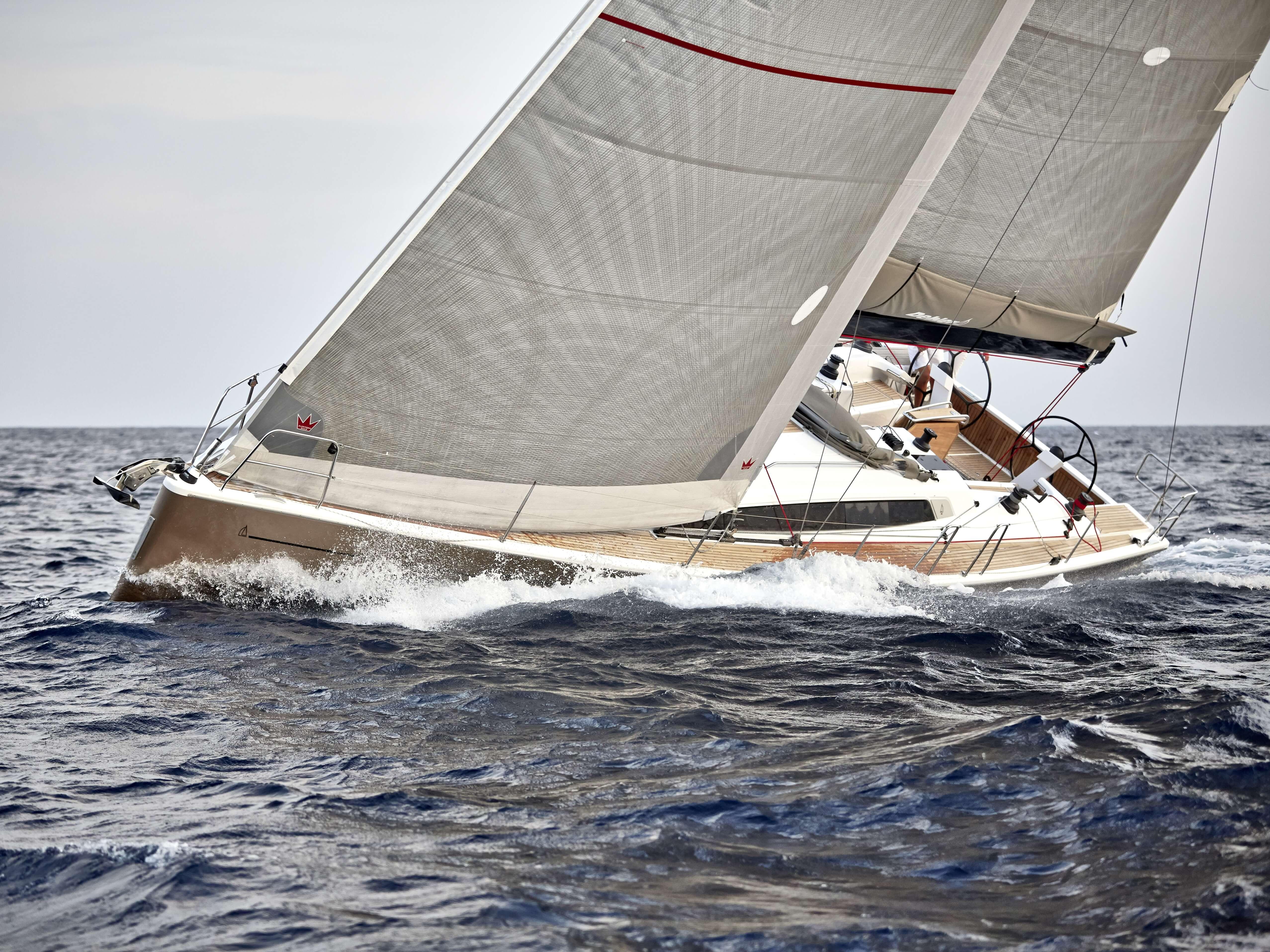 Dehler 46 Exterior Sailing | forsesail, mainsail | Dehler