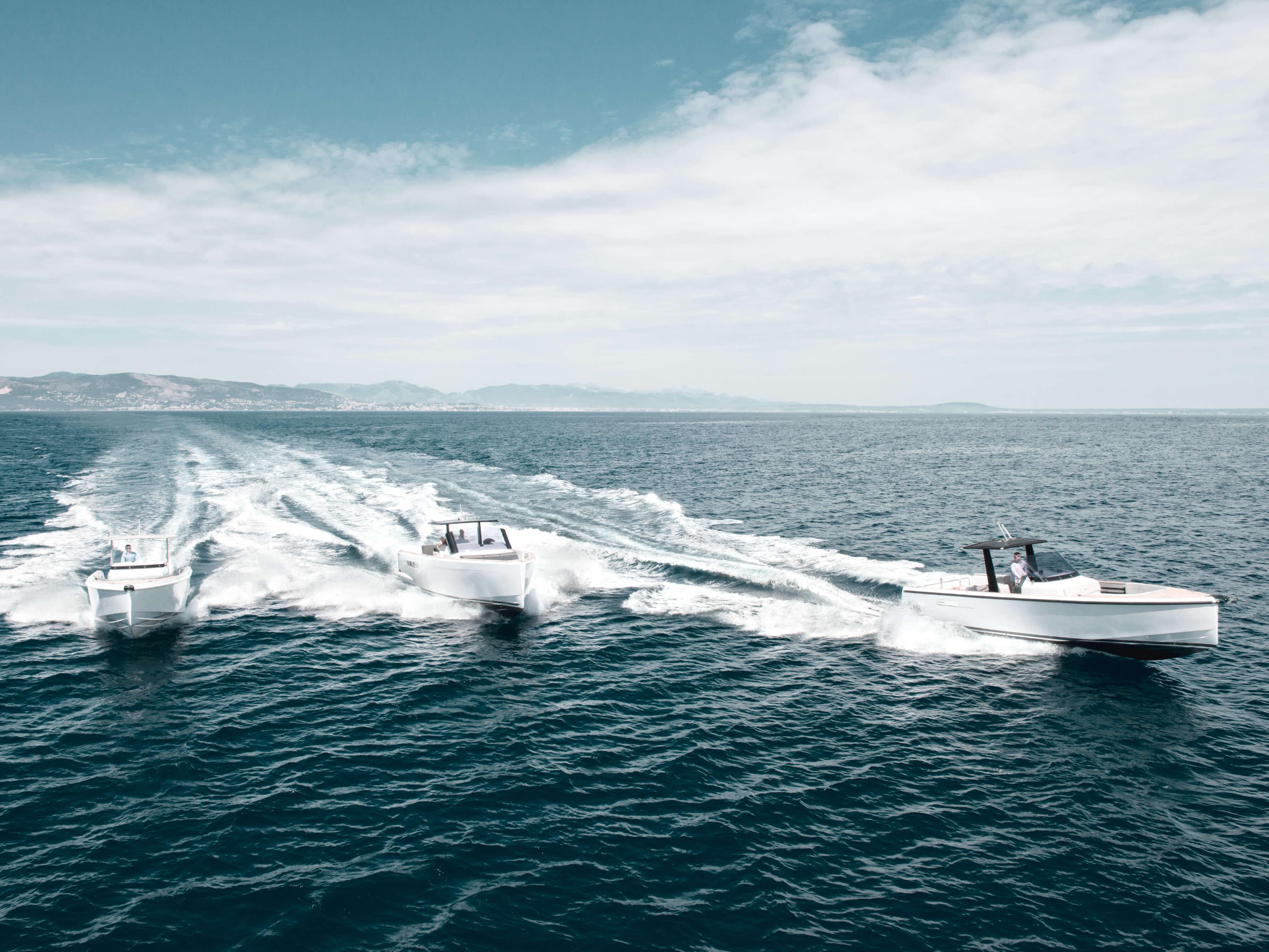 Fjord 36 open Außenansicht Fahrt