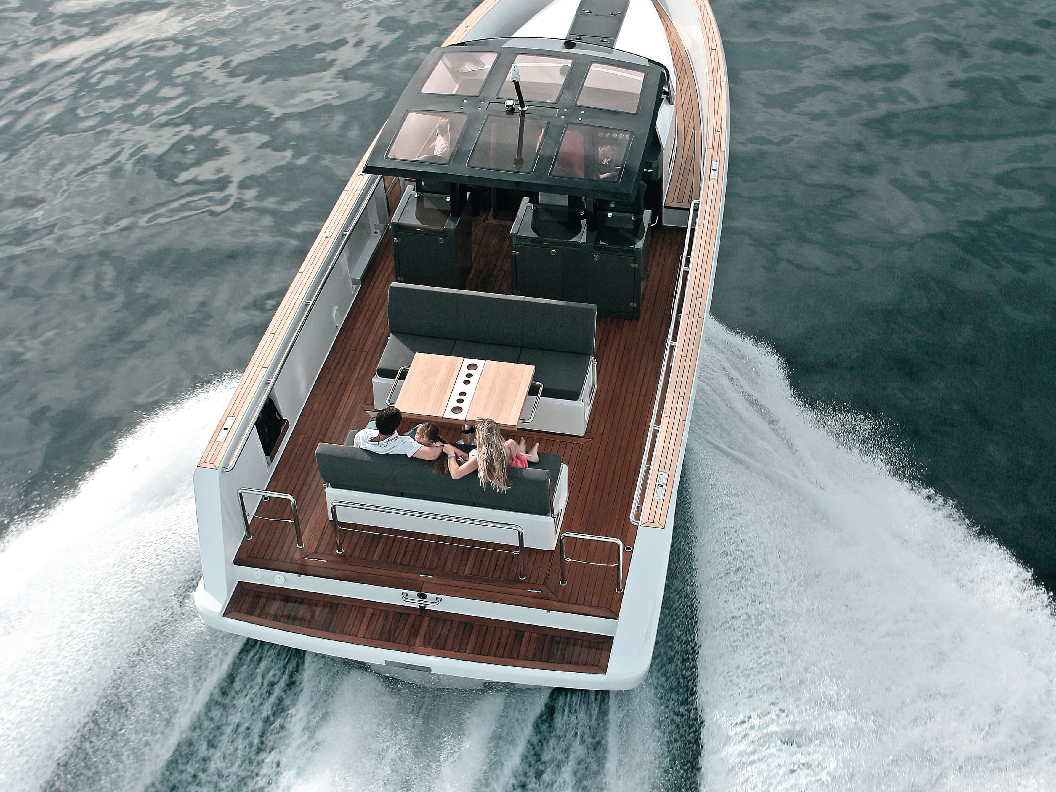 Fjord 40 open Exterior ride | rear, lounge-area | Fjord