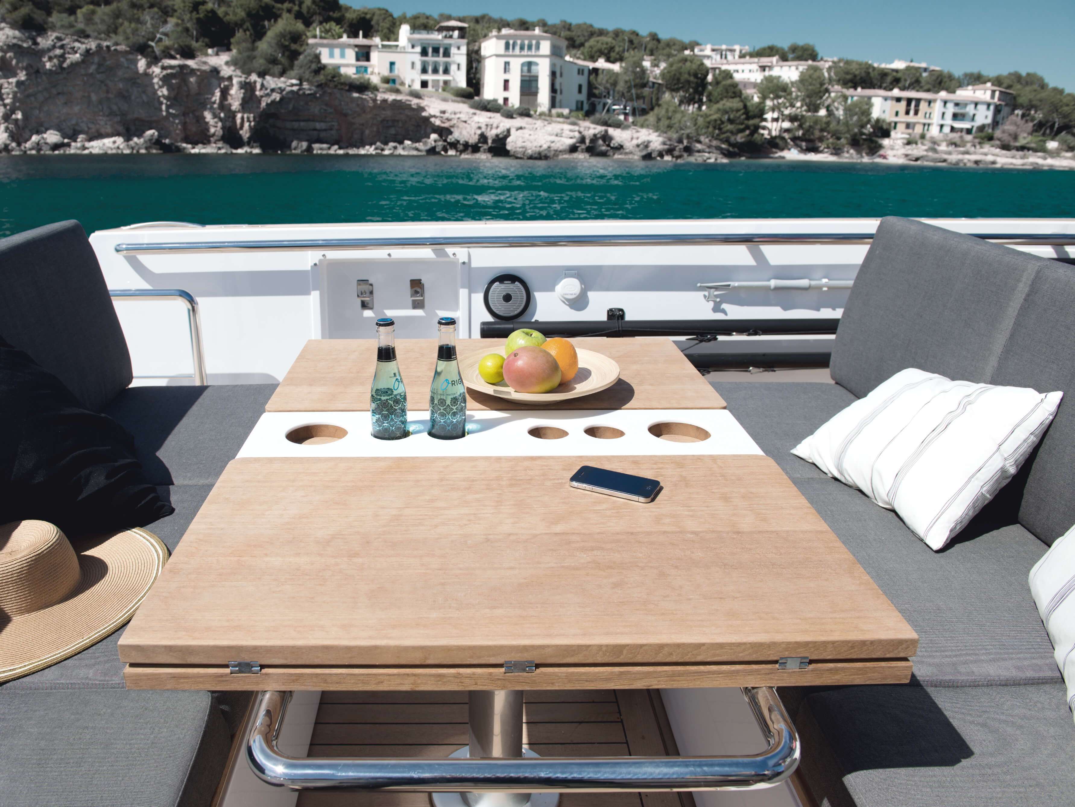 Fjord 40 open Exterior at anchor | lounge-area, table | Fjord