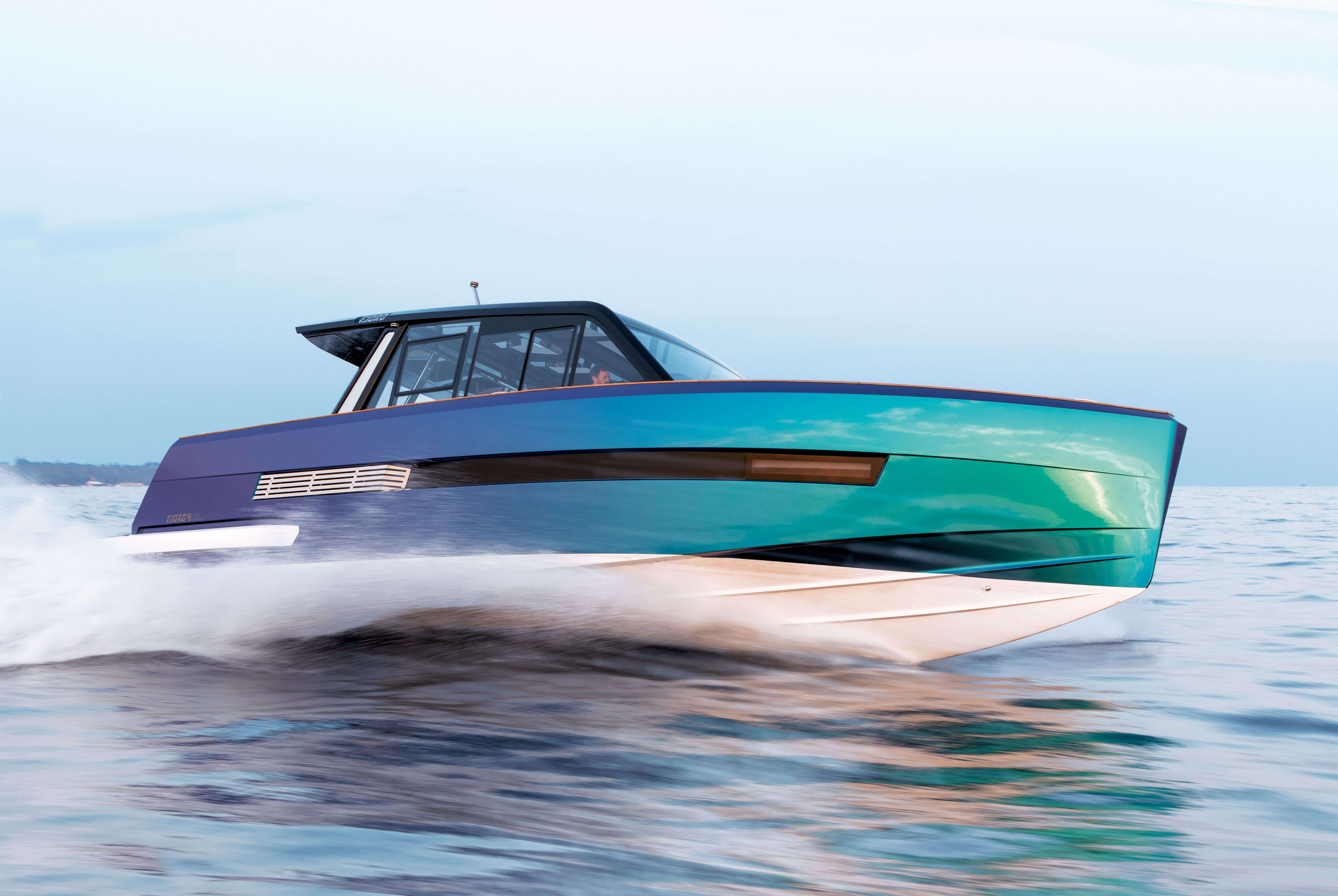 FJORD 44 coupé hull | FJORD can also develop special coating effects or multicoloured hull designs. | Fjord