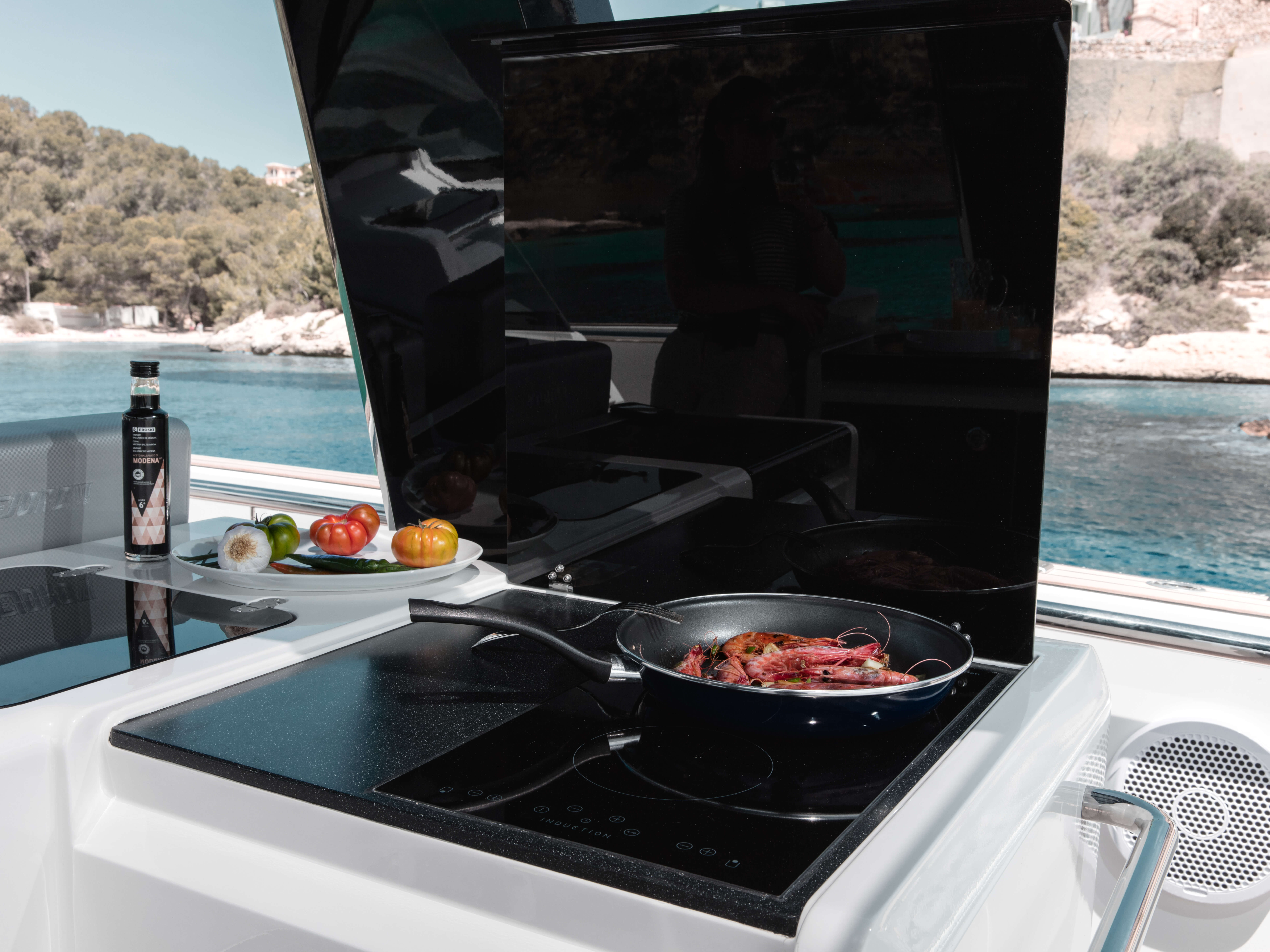 Fjord 48 open Exterior at anchor | galley with 2 burners stove | Fjord