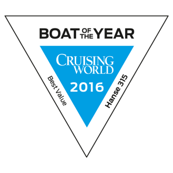 Hanse 315 Boat of the Year (Cruising World) 2016 | BEST VALUE CRUISER | Hanse