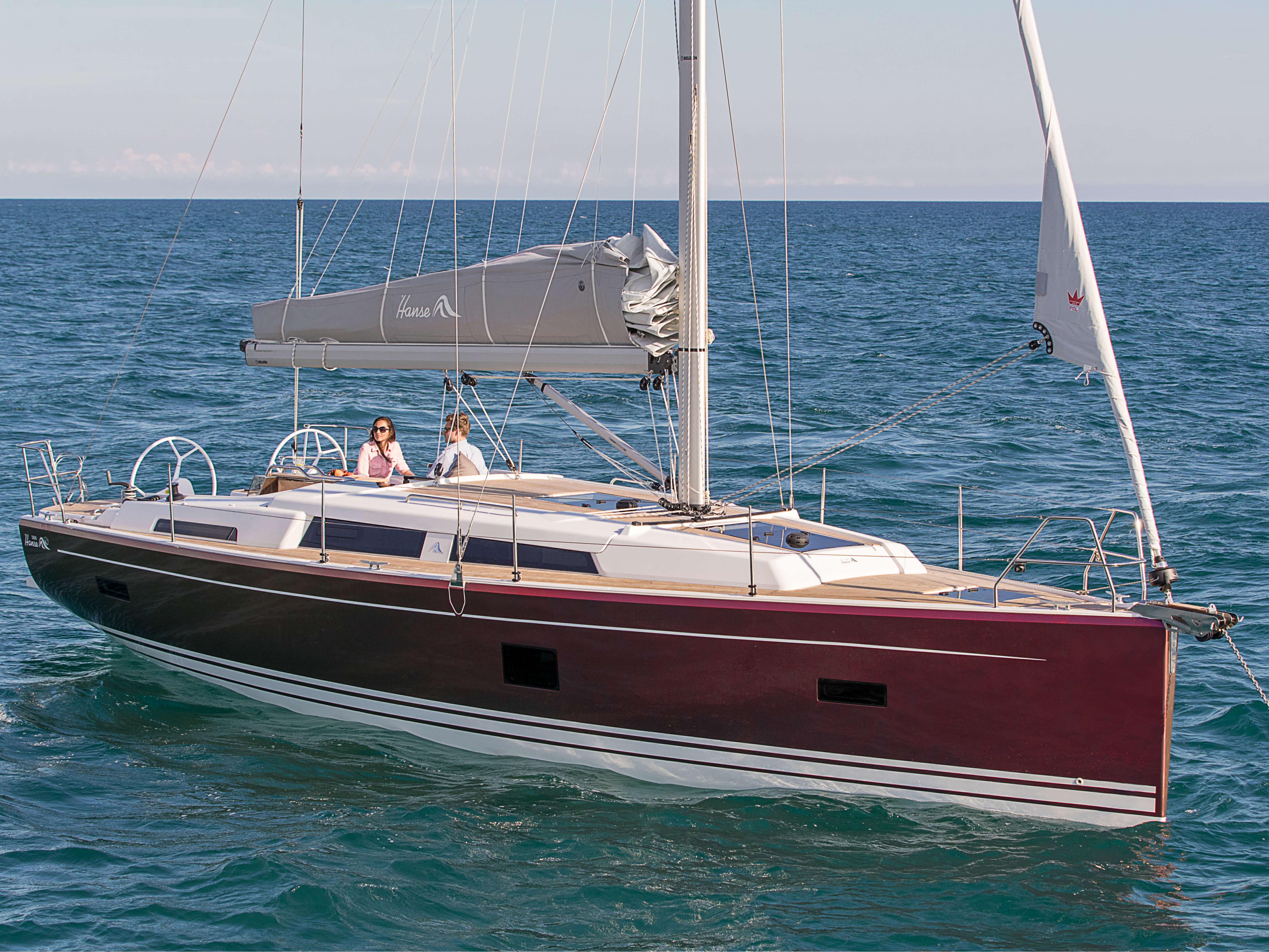 Hanse 388 | Exterior at anchor | Hanse