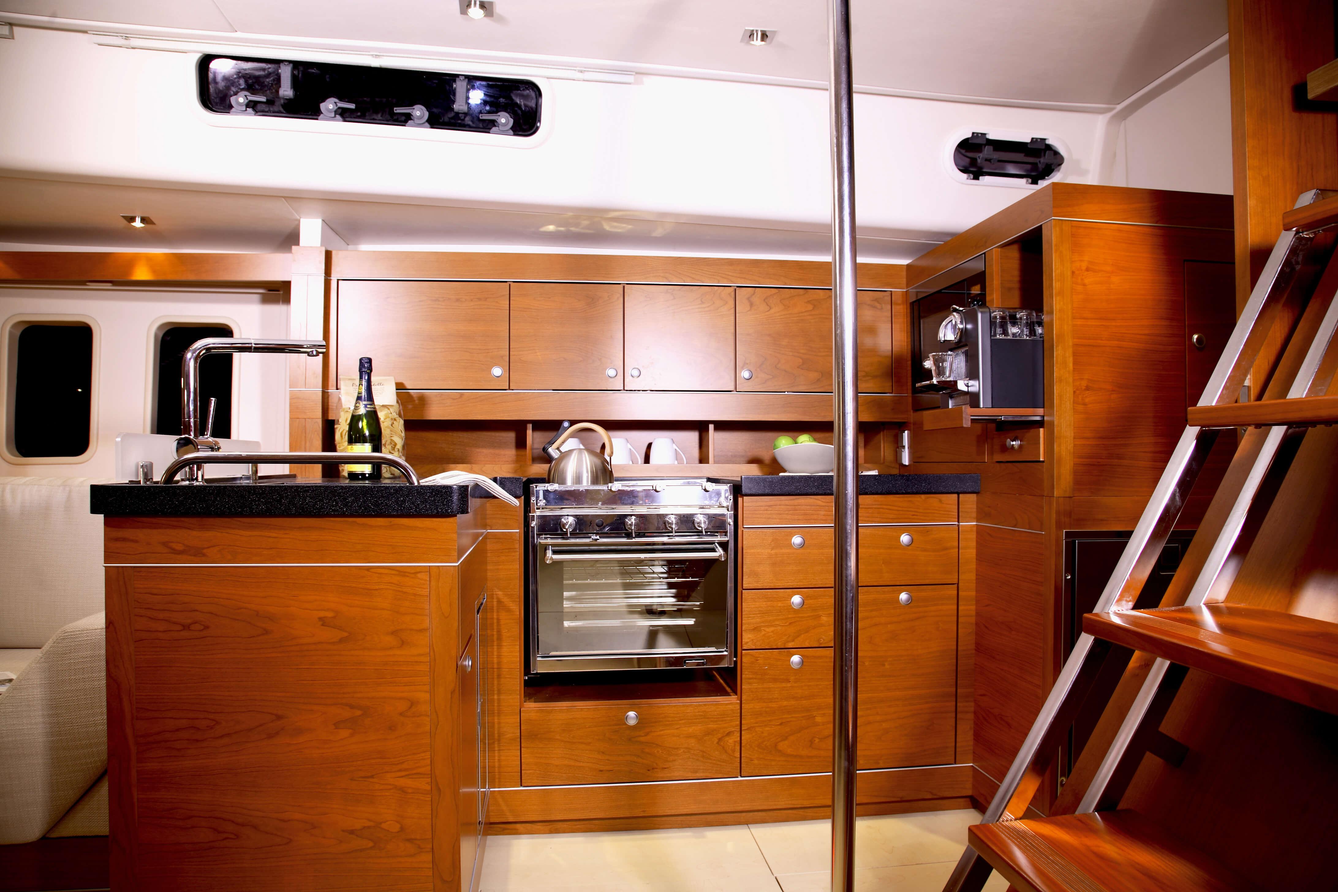 Hanse 545 Interior view pantry   Hanse
