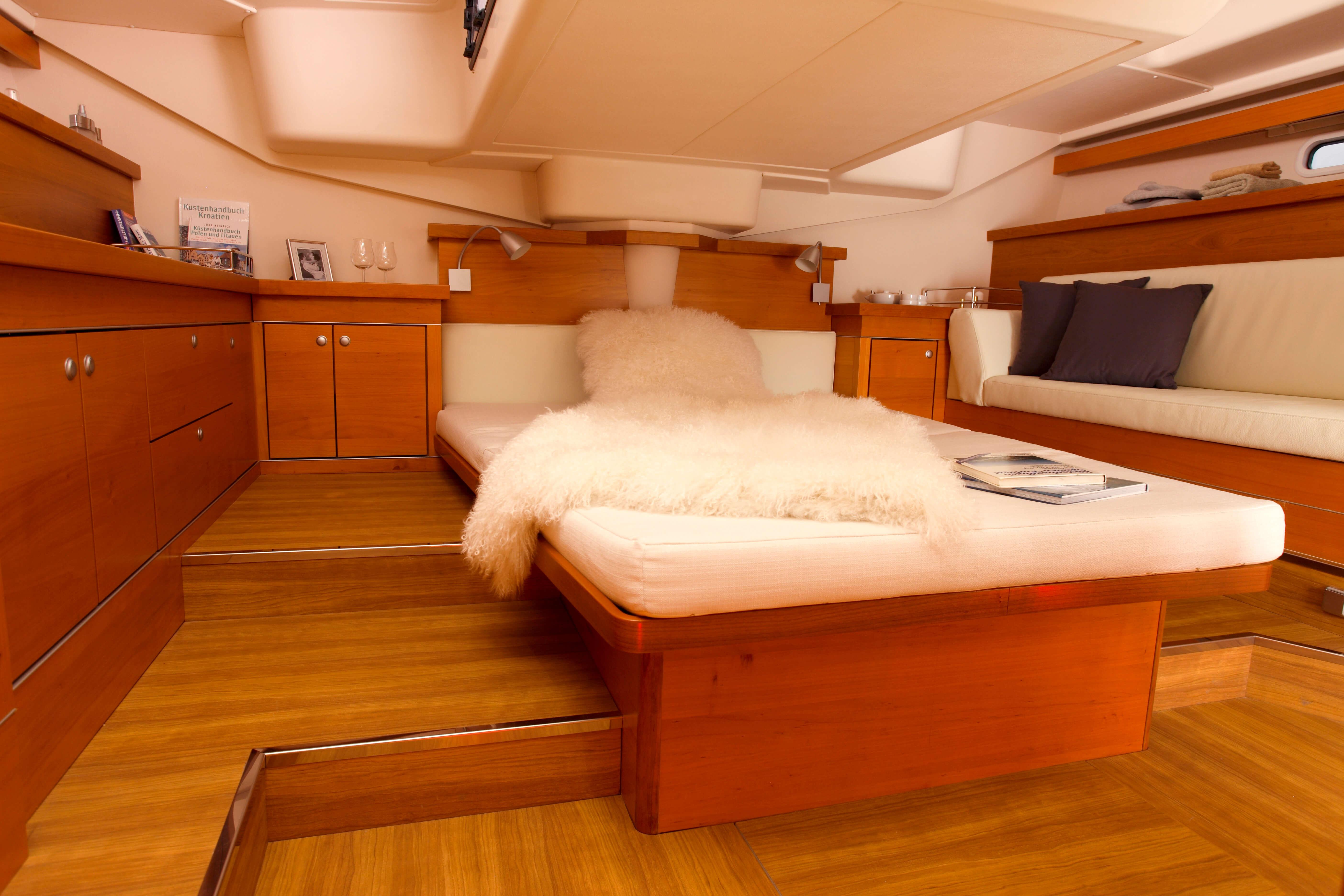 Hanse 545 Interior view owner´s cabin   Hanse