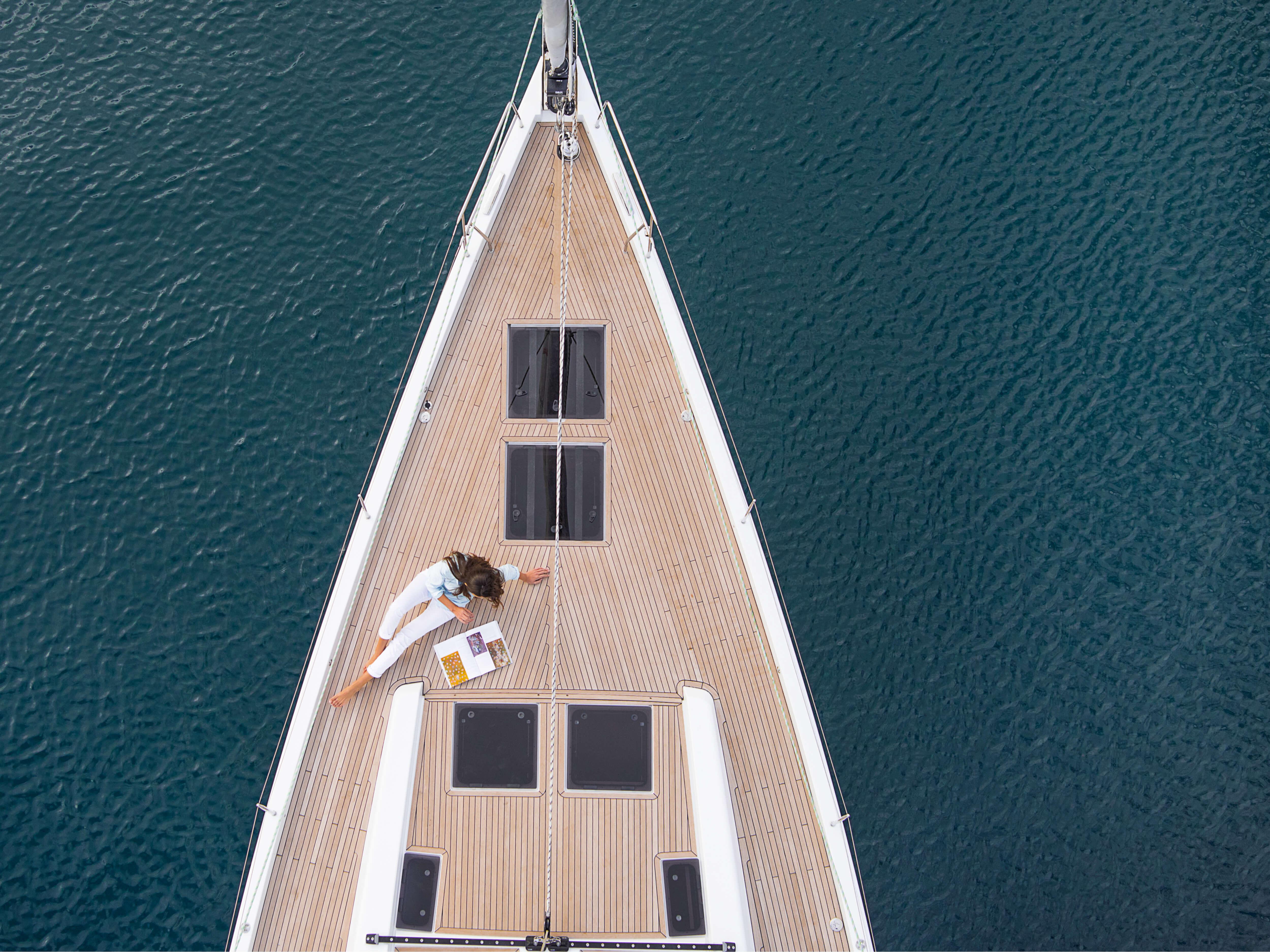 Hanse 588 Top view Deck | teak deck | Hanse