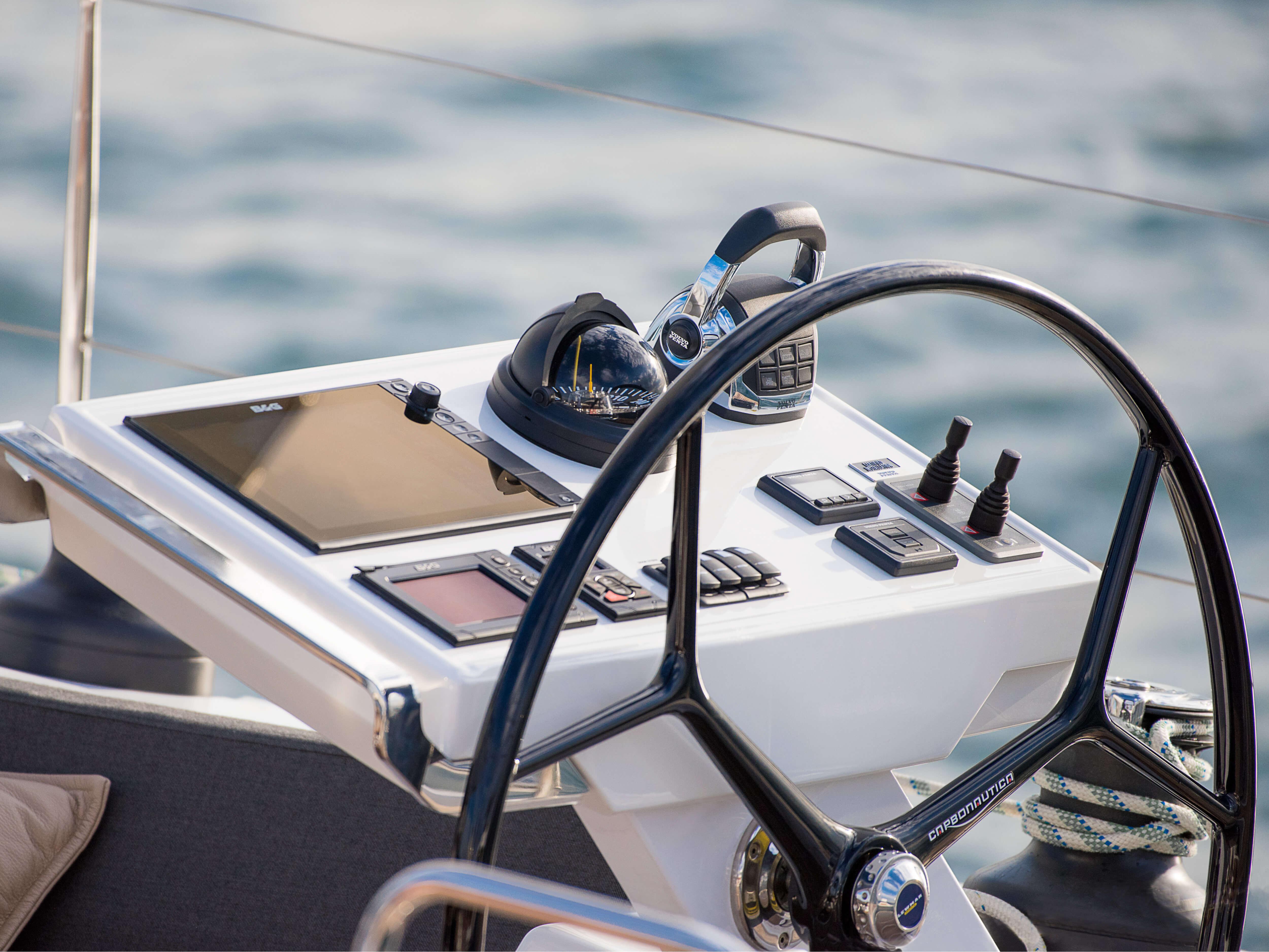 Hanse 588 Exterior view | multi-function display, steering wheel | Hanse