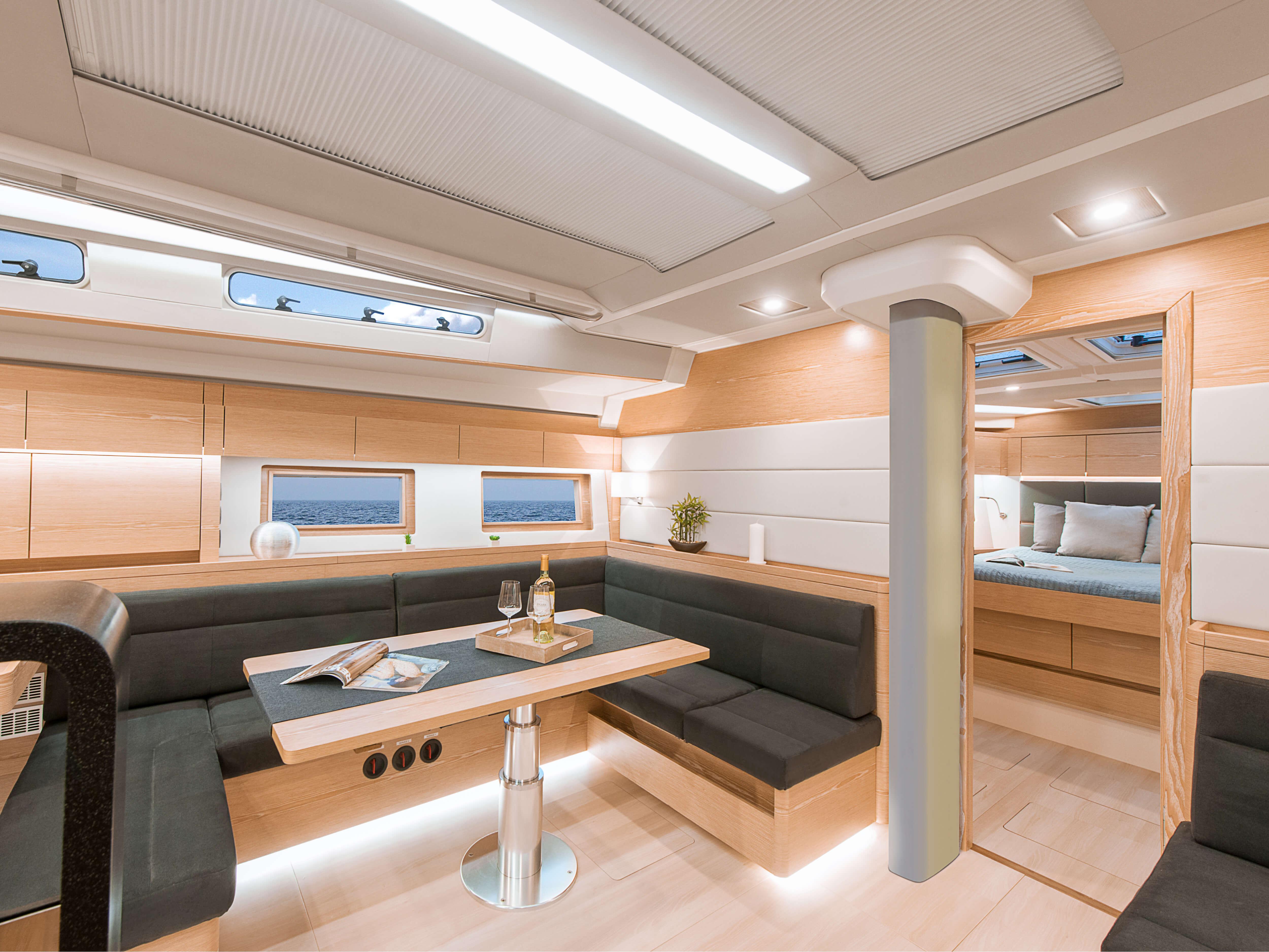 Hanse 588 | lounge area, pantry | Hanse
