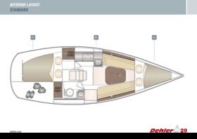 Dehler 29 aménagements intérieurs | A1 B1 C1 - Standard | Dehler