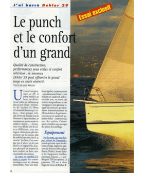 Dehler 29: Test Review | Le punch et le confort d'un grand. Qualité de construction, performances sous voiles et confort intérieur : le nouveau Dehler 29 peut affronter le grand large en toute sérénité. | Dehler