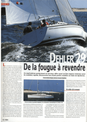 Dehler 29: Test Review - Voiles magazine | Dehler 29 - De la fougue à revendre. Ce neuf mètres performant et nerveux offre aussi un bin espace intérieur pour la croisière rapide. Découverte lors d'une petite croisière en baie de Quiberon. | Dehler