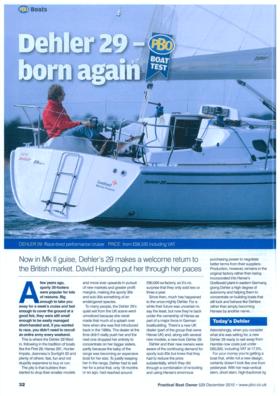 Dehler 29: Test Review - Practical Boat Owner 529 December 2010 | Dehler 29 - born again. Now in Mk ll guise, Dehler's 29 makes a welcome return to the british market. David Harding put her through her paces. | Dehler
