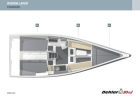 Sail racing yacht Interior Layout