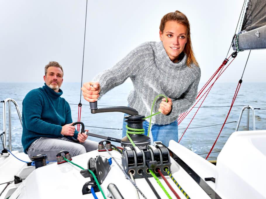 Dehler 30 one design havuzluk | Teknede sadece iki kişi her zaman tam kontrolü sağlayabilir. | Dehler