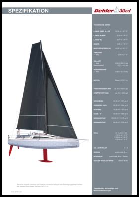 Dehler 30 one design Standard Spezifikation | Dehler