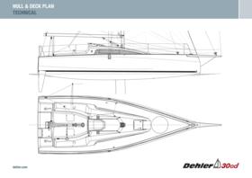 Dehler 30 one design Güverte ve Gövde planı | Teknik | Dehler