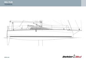 Dehler 30 one design gövde planı | Teknik | Dehler