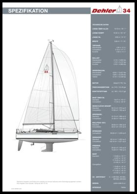 Dehler 34 Standard Spezifikation | Dehler