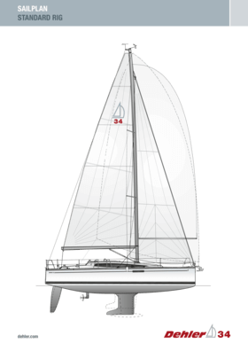 Dehler 34 风帆 | 标准钻机 | Dehler