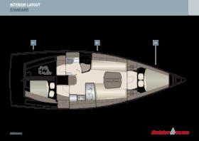 Dehler 38 SQ Interior Layout | A1 / B1 / C1 - Standard | Dehler