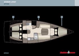 Dehler 38 SQ Interior Layout | A2 / B2 / C2 - Option | Dehler