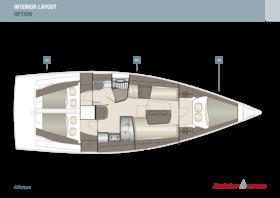 Dehler 38 SQ Interior Layout | A2 / B3 / C2 - Option | Dehler