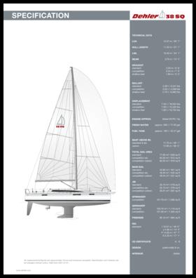 Dehler 38SQ Standard Specification | Dehler