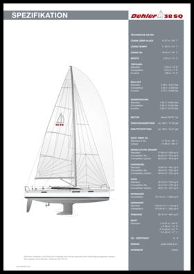 Dehler 38SQ Standard Spezifikation | Dehler