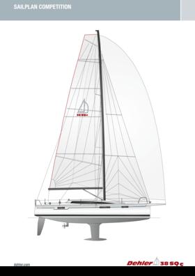 Dehler 38 SQ Competition Sail plan | Standard Rig | Dehler