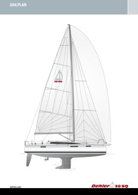 Dehler 38 SQ Sail plan | Standard rig | Dehler