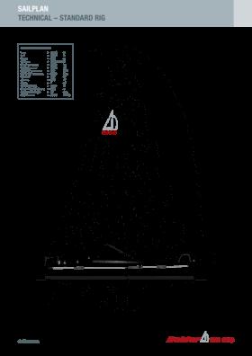 Dehler 38 SQ Sail technical diagram | Diagram of the sails of the Dehler 38 SQ | Dehler