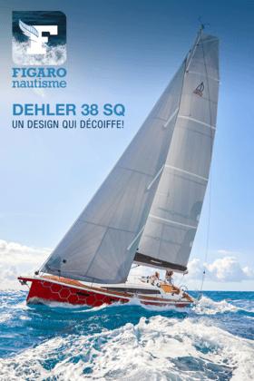 Dehler 38 SQ: FIGARO nautisme 01/21 | Dehler 38 SQ : un design qui décoiffe! Ligne sportive et design flashy pour ce nouveau voilier allemand qui conserve l'esprit d'un racer-cruiser. L'intérieur n'est pas en reste de même que l'équipement du pont. | Dehler