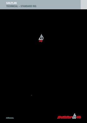 Dehler 46 Standard technical Sailplan | Dehler