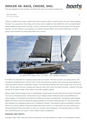 Dehler 46: Race, Cruise, Sail - boats.com April 2015 | The new flagship for this builder, the Dehler 46 races and cruises equally well. | Dehler