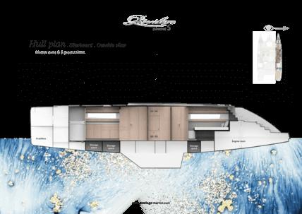 Privilège Euphorie 5 | Hull plan - Starboard outside view | Privilège