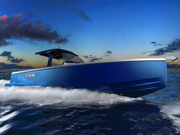 FJORD 38 open exterior | The hull and waterline can be painted in a great variety of colours. | Fjord