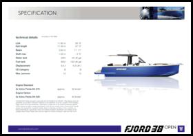 FJORD 38 open | Standard Specification | Fjord