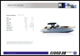 FJORD 38 xpress | Standard Specification | Fjord