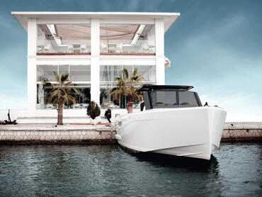 FJORD 40 open exterior | Arrive at a vibrant summer party in style - or be the host of one. | Fjord