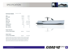 Fjord 40 open | Fjord