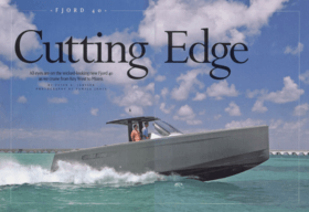 FJORD 40 open: Review - Motorboating June 2008 | Cutting Edge - All eyes are on the wicked-looking new FJORD 40 as we cruise from Key West to Miami. | Fjord