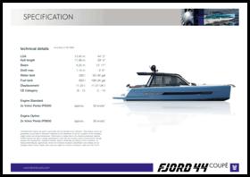 FJORD 44 coupé   Standard Specification   Fjord